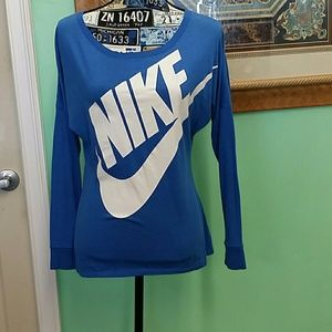 EUC Nike small blue long sleeve top